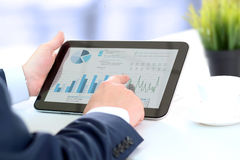 Businessman working with digital tablet Royalty Free Stock Photos