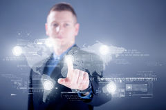 Businessman working with digital virtual screen ,business concep Royalty Free Stock Images