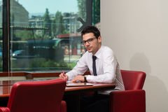 Businessman Working With Documents In The Office Royalty Free Stock Image