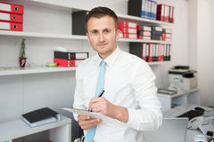Businessman Working With Documents In The Office Stock Photography