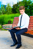 Businessman working with documents Stock Photography