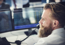 Businessman Working Finance Trading Stock Concept Royalty Free Stock Photography