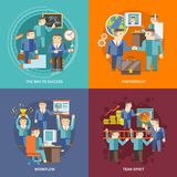 Businessman Working Flat Royalty Free Stock Images