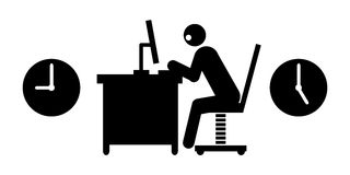 Businessman working hard Royalty Free Stock Photography