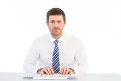 Businessman working at his desk Stock Image