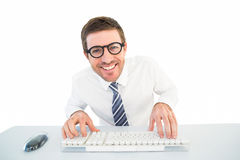 Businessman working at his desk Royalty Free Stock Images