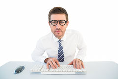 Businessman working at his desk Royalty Free Stock Photo