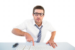 Businessman working at his desk Royalty Free Stock Photography