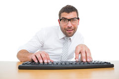 Businessman working at his desk Royalty Free Stock Photos