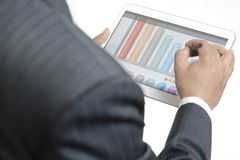 Businessman working on his digital tablet Stock Photography