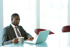 Businessman working on his laptop Royalty Free Stock Photo