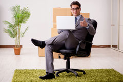 The businessman working on his laptop Royalty Free Stock Images