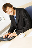 Businessman working in his office Royalty Free Stock Photos