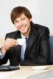 Businessman working in his office Royalty Free Stock Images