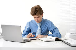 Businessman working in his office Royalty Free Stock Image