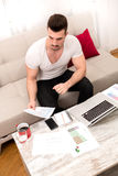 Businessman working at home Stock Photo