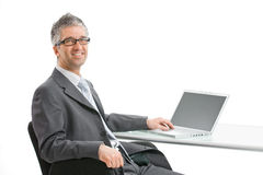 Businessman working on laptop Royalty Free Stock Photography