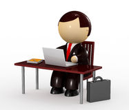 Businessman working with a laptop Royalty Free Stock Photography