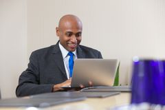 Businessman working on laptop Royalty Free Stock Photo