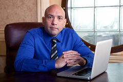Businessman working on a laptop Royalty Free Stock Image