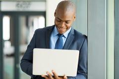 Businessman working laptop Stock Photos