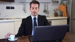 Businessman working at laptop Stock Photography