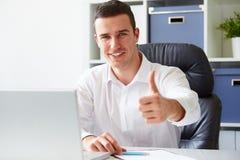 Businessman working on laptop Royalty Free Stock Photo