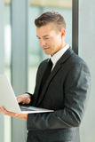 Businessman working laptop Royalty Free Stock Images