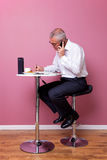 Businessman working lunch Stock Photo