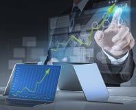 Businessman working on modern technology Stock Photo