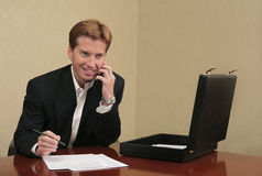 Businessman working in an office Royalty Free Stock Images
