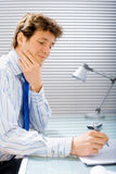 Businessman working at office Royalty Free Stock Images