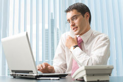 Businessman working at office Royalty Free Stock Photo