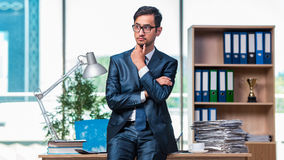 The businessman working in the office Royalty Free Stock Photo