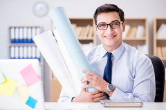 The businessman working in the office Royalty Free Stock Photos