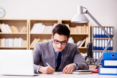 The businessman working in the office Stock Photos