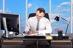 Businessman working Stock Images