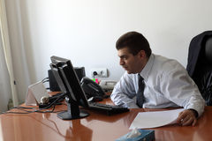 Businessman working in office Royalty Free Stock Image