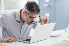 Workplace vision problems Royalty Free Stock Images