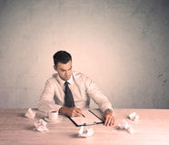 Businessman working at office desk Royalty Free Stock Photo