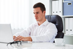 Businessman working in the office Royalty Free Stock Photo