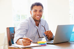 Businessman Working In Office At Home Royalty Free Stock Images