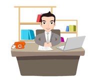 Businessman Working At Office stock illustration