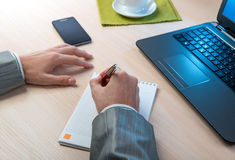 Businessman working in office Stock Photo