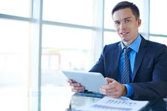 Businessman working in office Stock Photography