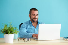 Businessman working in office Royalty Free Stock Photo
