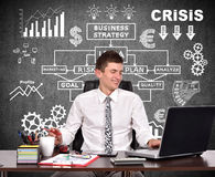 Businessman working in office Stock Images