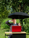 Businessman Working Outdoors Stock Images