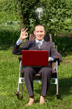 Businessman Working Outdoors Stock Image