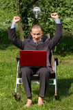 Businessman Working Outdoors Stock Photography